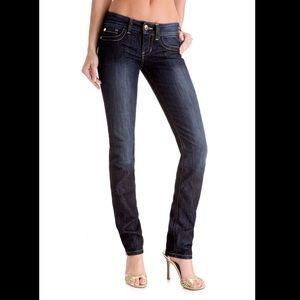 Guess Premium Daredevil Skinny Blue Jeans 26